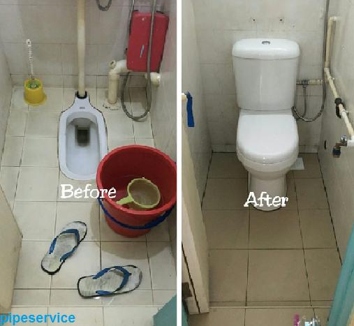 تبدیل توالت ایرانی به فرنگی بدون تخریب
